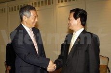 PM meets Singaporean counterpart, regional representatives