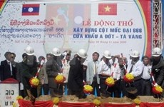 Construction of key Vietnam-Laos border marker starts
