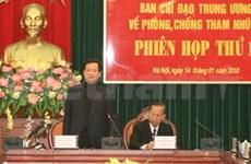 PM requests tougher fight against corruption