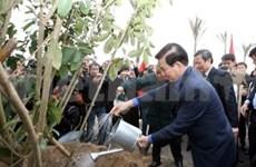 President attends tree planting, ploughing festivals