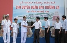 Nghe An province receives gift from Truong Sa