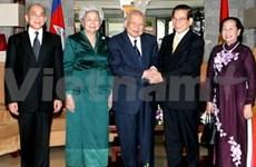 Cambodian former King begins Vietnam visit