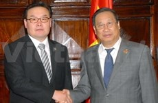 FM Khiem holds talks with foreign counterparts