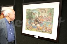 Silk paintings spotlight Vietnamese culture in France