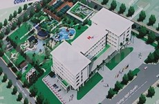 Hue Central Hospital under construction