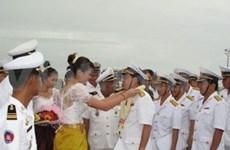 Vietnam's naval ships anchor off Cambodian shore