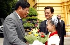 Vietnam-Laos summit focuses on border, economy
