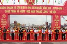 Vinh Tuy bridge opens to traffic