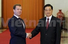 Chinese, Russian presidents hold talks