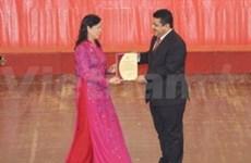 Palestinian diplomat wins highest prize of Hanoi contest