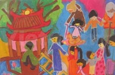 Asian children draw their lives