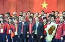 Deputy PM Trong meets Vietnamese team at ASIAD