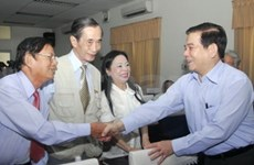 State President meets voters in HCM City