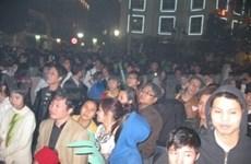 Localities welcome New Year jubilantly