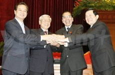 Newly-elected Party chief hosts press conference