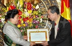 Former NA leaders honoured with Lao National Orders