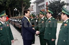 Party and State leaders pay Tet visits
