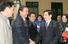 State, Government leaders make pre-Tet visits
