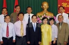 President celebrates Tet with HCM City leaders