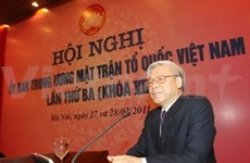 Party chief emphasises Fatherland Front's role