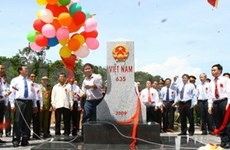 Major Laos border marker erected