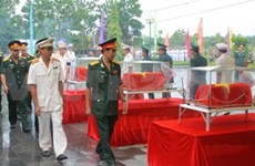 Fallen soldiers in Cambodia repatriated