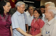 VN's Party, State and NA leaders meet voters
