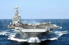 US aircraft carrier arrives in waters near VN