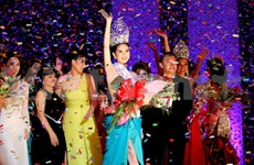 Ngoc Trinh crowned Miss Vietnam International