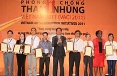 Anti-corruption initiatives for 2011 awarded