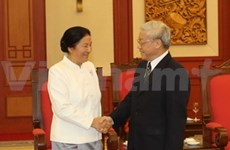 Vietnam's leaders welcome Lao NA President