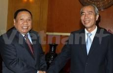 Vietnam, Laos cooperate in front work