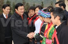 President works with Ha Giang province