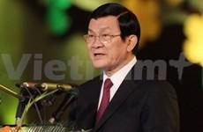 President Sang starts visit to Laos