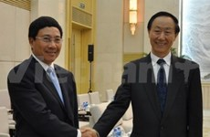 Foreign Minister Minh meets Chinese leaders