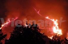 Hoang Lien National Park fire controlled