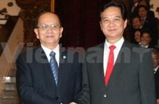 Myanmar President welcomed in Hanoi