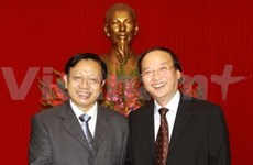 Politburo member welcomes CPC delegation