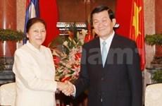 President praises prominent Lao politician