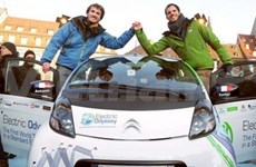 World tour by electric car arrives in Vietnam