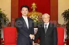 Party, Government leaders receive Japanese top diplomat