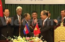 Vietnam, Cambodia NA leaders hold talks