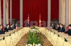 President holds talks with DPRK leader