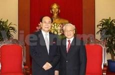 Party General Secretary receives DPRK leader