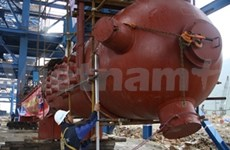 New power station has first boiler drum installed