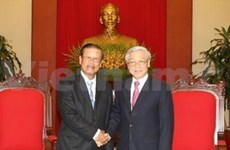 Party leader welcomes Lao Deputy PM