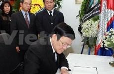 President mourns former Cambodian King