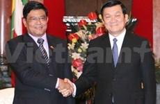 President meets Myanmar Vice President