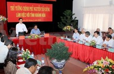 Prime Minister works with Khanh Hoa province