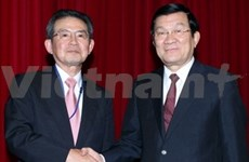 President welcomes Japan's business leader